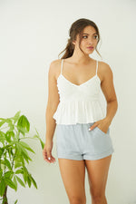 White smocked tank top.