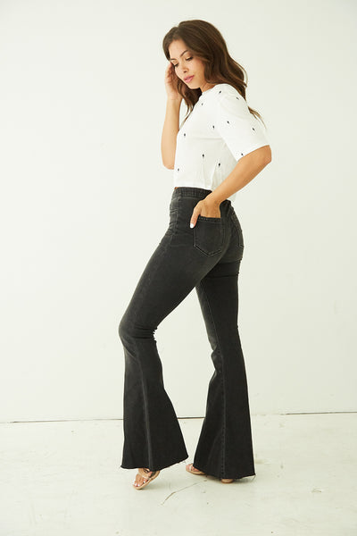 Blank NYC Jackie Denim Pull On Flares