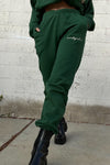 '90s Baggy Sweatpants In Hunter Green