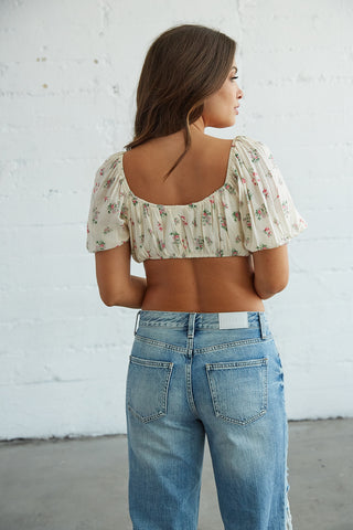 Native Daughters Sweet Honey Floral Crop Top
