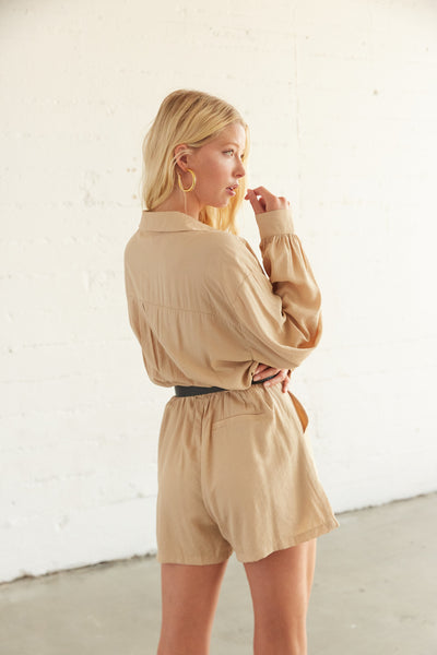Malibu Button Up Romper