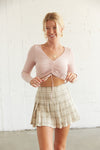 Christina Plaid Tennis Skirt
