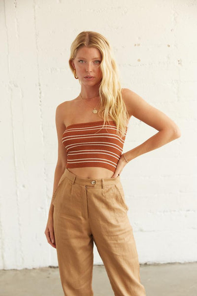 Rosalie Striped Tube Top