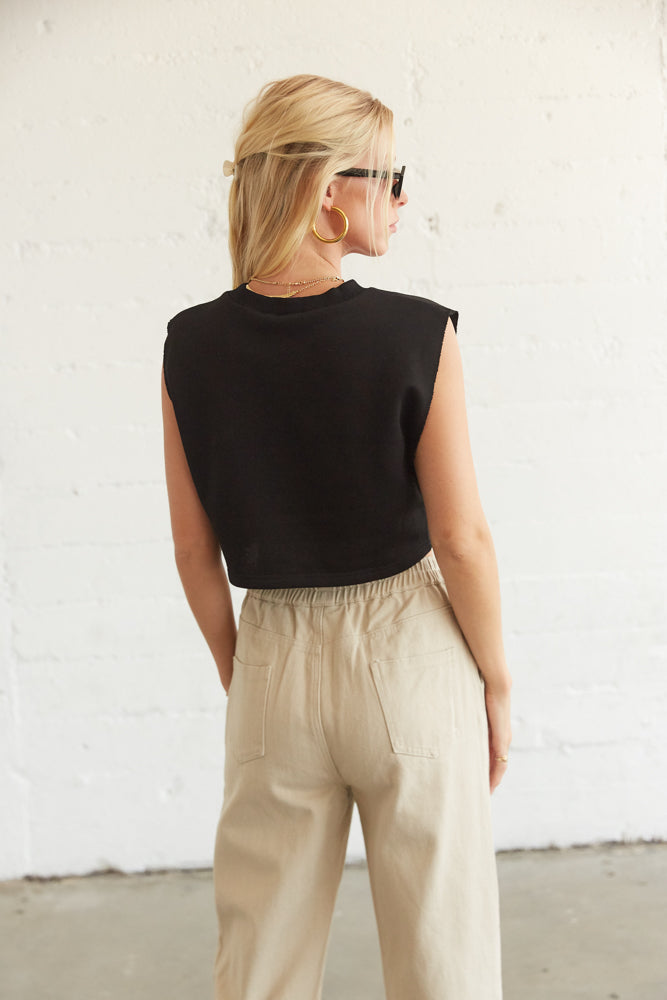 The back of this tee is simple and cropped.