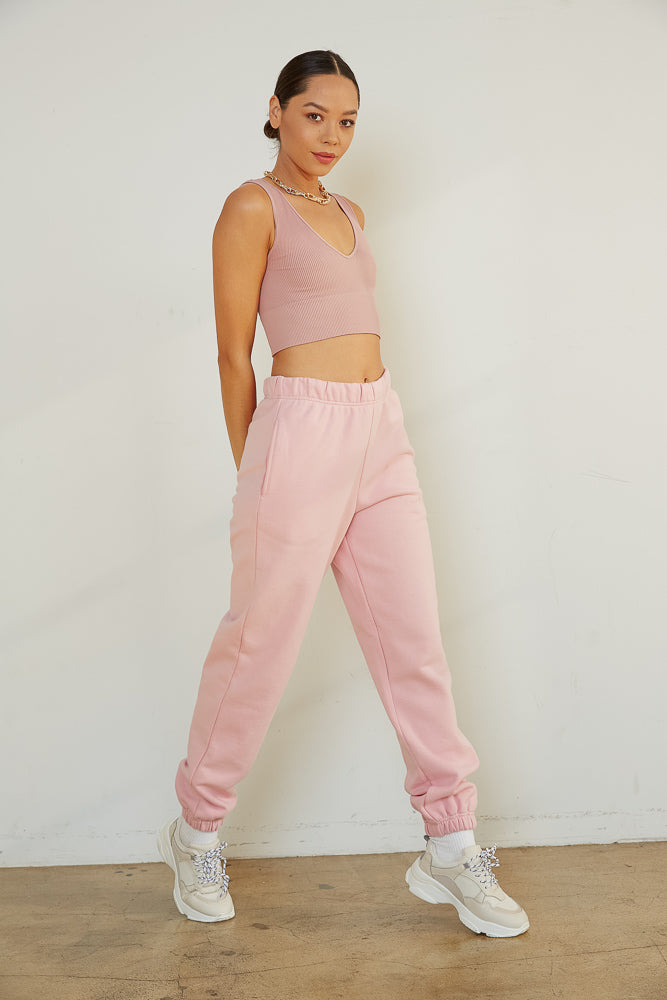 '90s Baggy Sweatpants In Pink