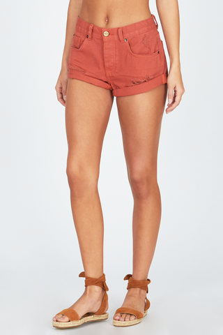 Amuse Society Crossroads Shorts In Picante