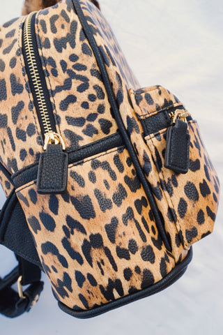In Love Cheetah Backpack Purse