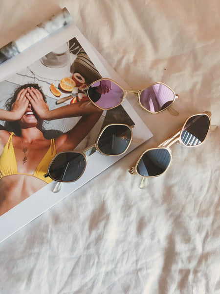Fast Lane Geometric Sunglasses