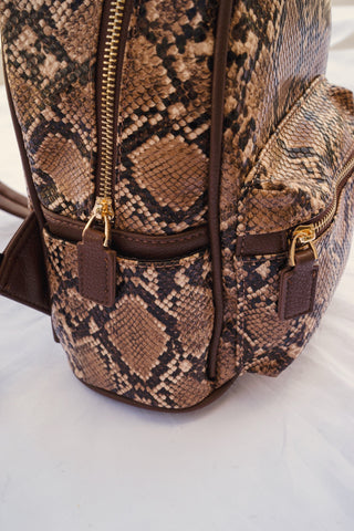 To Eternity Snakeskin Backpack Purse