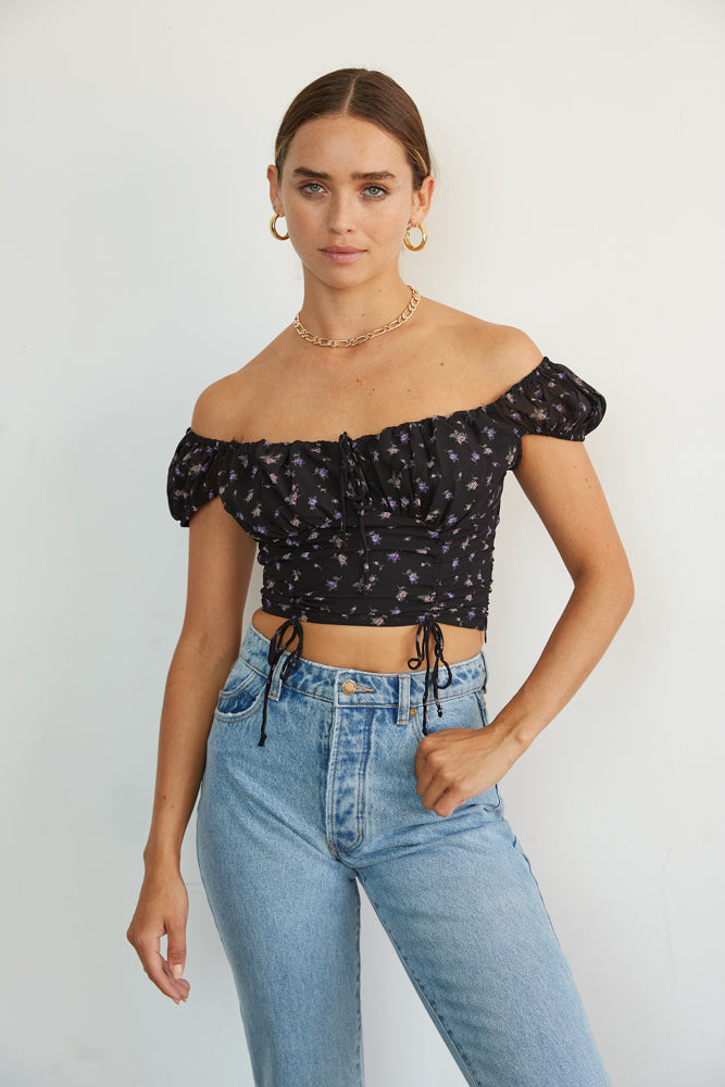You can also style this top off the shoulder for a flirty look.