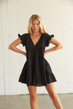 Babydoll dress in black.