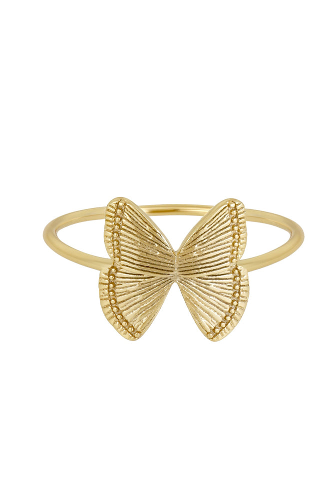 Details of butterfly ring.