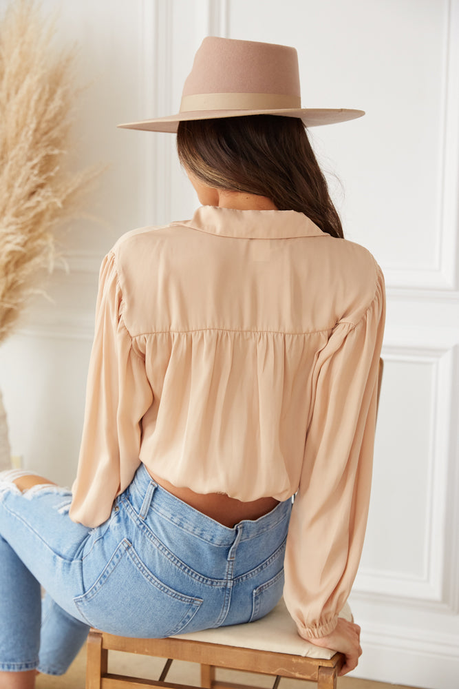 The back of this shirt is relaxed.