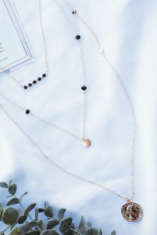 San Fran Layered Coin Necklace