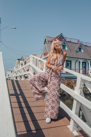 New Orchid Printed Jumpsuit
