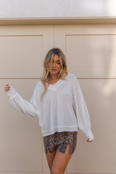 Fearless Waffle Knit Top