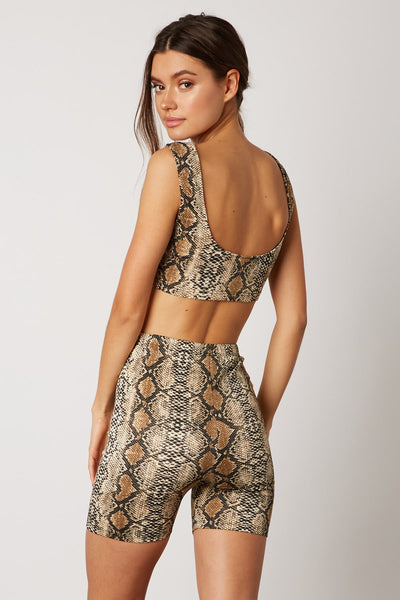 Electric Avenue Snakeskin Biker Set