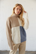 Tyler Colorblock Turtleneck Sweater