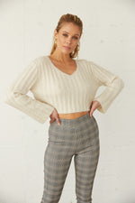 Georgia Fuzzy Crop Knit Sweater