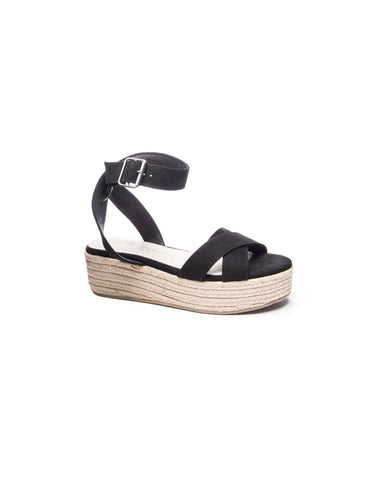 Chinese Laundry Zala Black Wedge Sandal