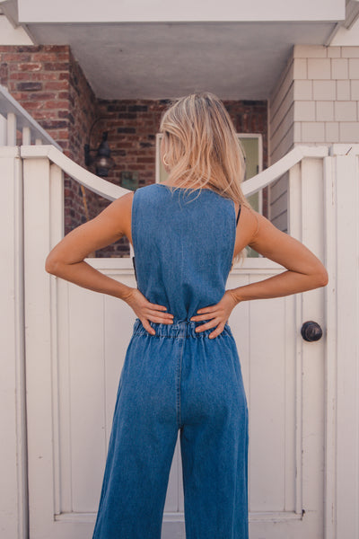 Native Daughters Ashley Denim Jumpsuit