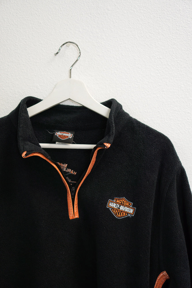 Harley Davidson Fleece Quarter Zip Pullover