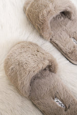 Stacie Furry Slides in Taupe