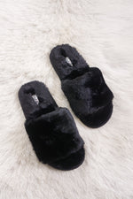 Stacie Furry Slides in Black