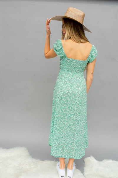 Field Of Dreams Floral Smocked Midi Dress