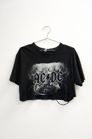 Strike A Pose ACDC Crop Tee