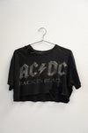 Back To Black ACDC Crop Tee