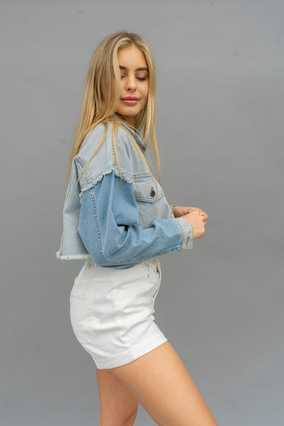 Starlight Paperbag Denim Shorts