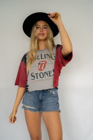 6e44f72ad70 Red Horizons Tie Dye Rolling Stones Crop Tee • Shop American Threads ...