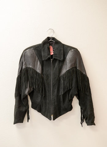 Long Beach Suede Fringe Jacket