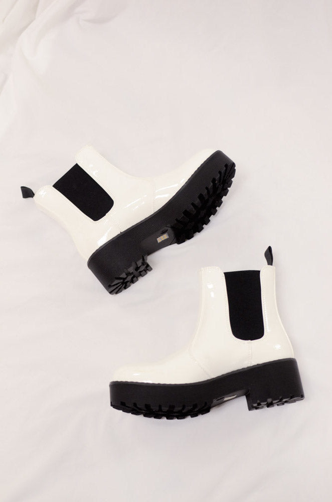 Margo Bootie In Patent White