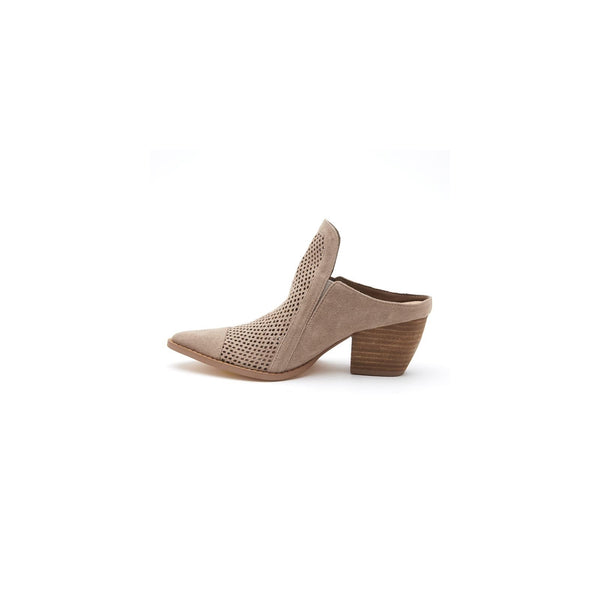 Matisse Call It Perforated Mule In Taupe