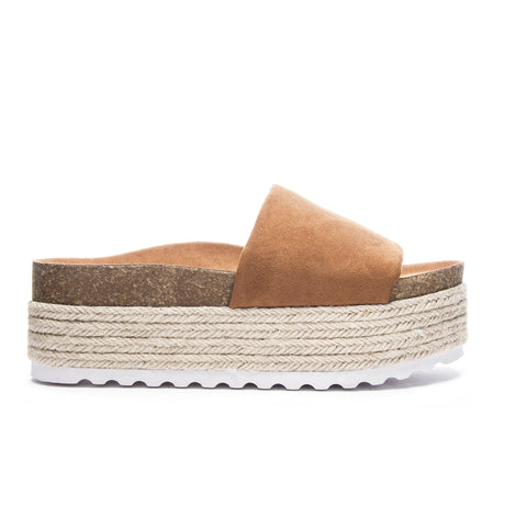 Chinese Laundry Pippa Sandal In Suede Whiskey