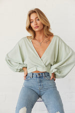 Deep V Neck detail on the top.