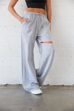 Melody Baggy Slit Sweatpants