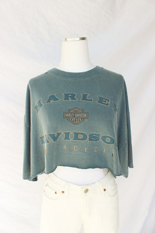 Harley Davidson Blue Dream Crop Tee
