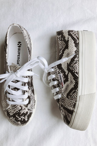 Superga 2790 Platform Sneakers in Snakeskin