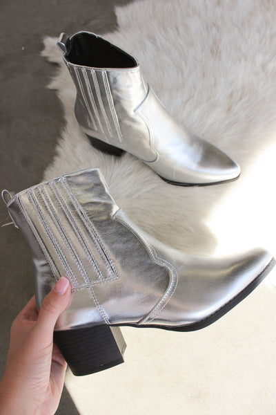 Over The Moon Silver Boots