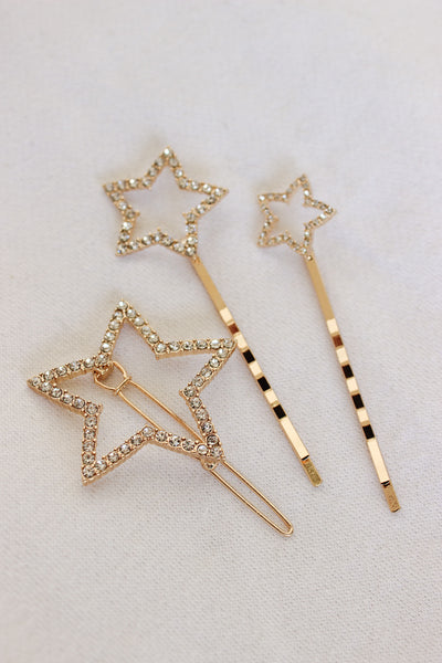 Shooting Star Hair Clips