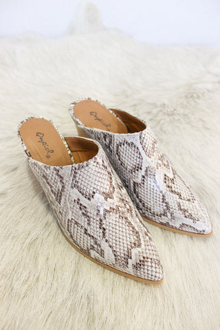On The Road Snakeskin Mule