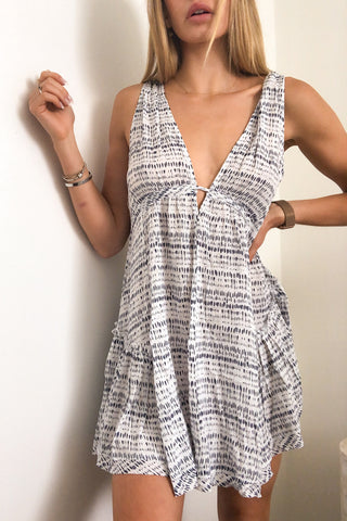 Sail Away Printed Swing Dress