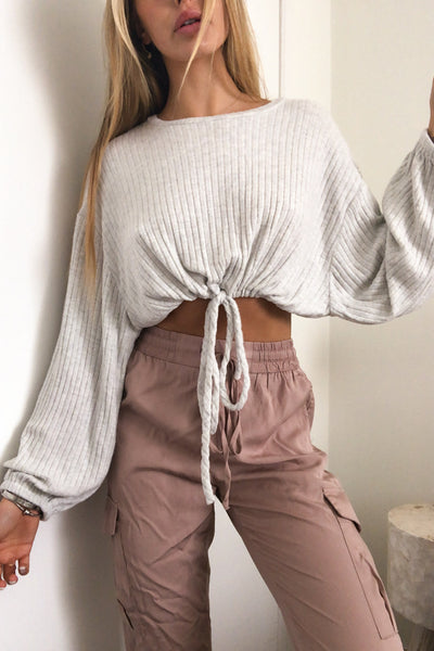 Still Together Crop Ribbed Top