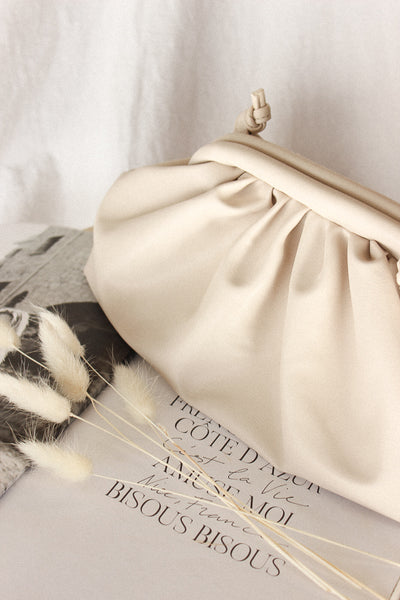 All Mine Ruched Clutch Bag