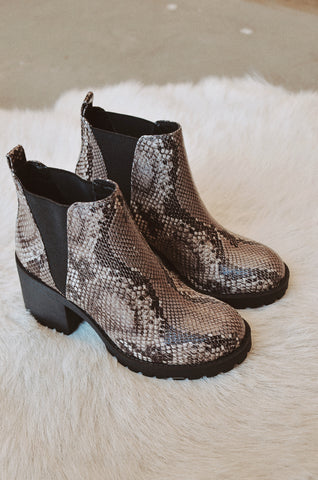 Chinese Laundry Lisbon Bootie In Snakeskin