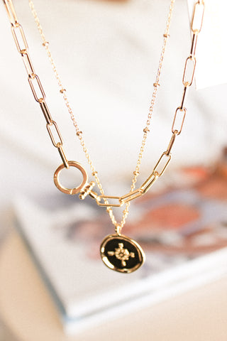 Gorjana Compass Gold Necklace