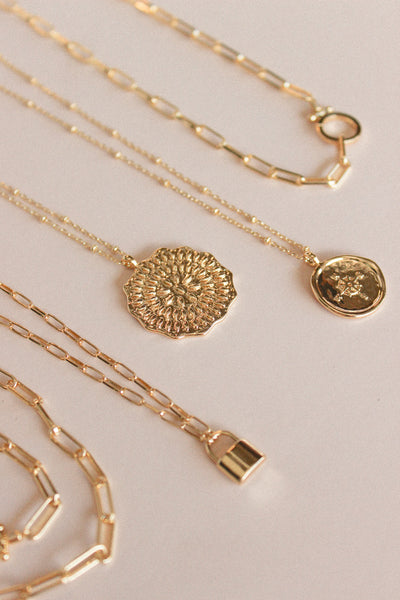 Gorjana Mosaic Coin Necklace